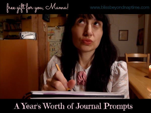 A year's worth of journal prompts from www.blissbeyondnaptime.com