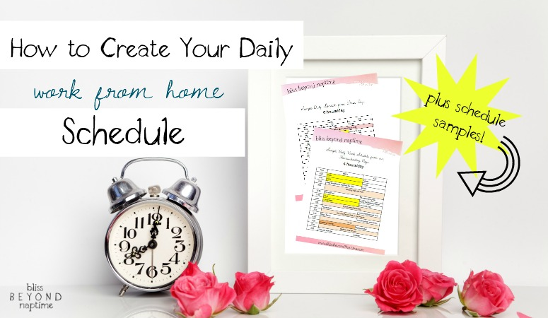 How to create your daily work from home schedule