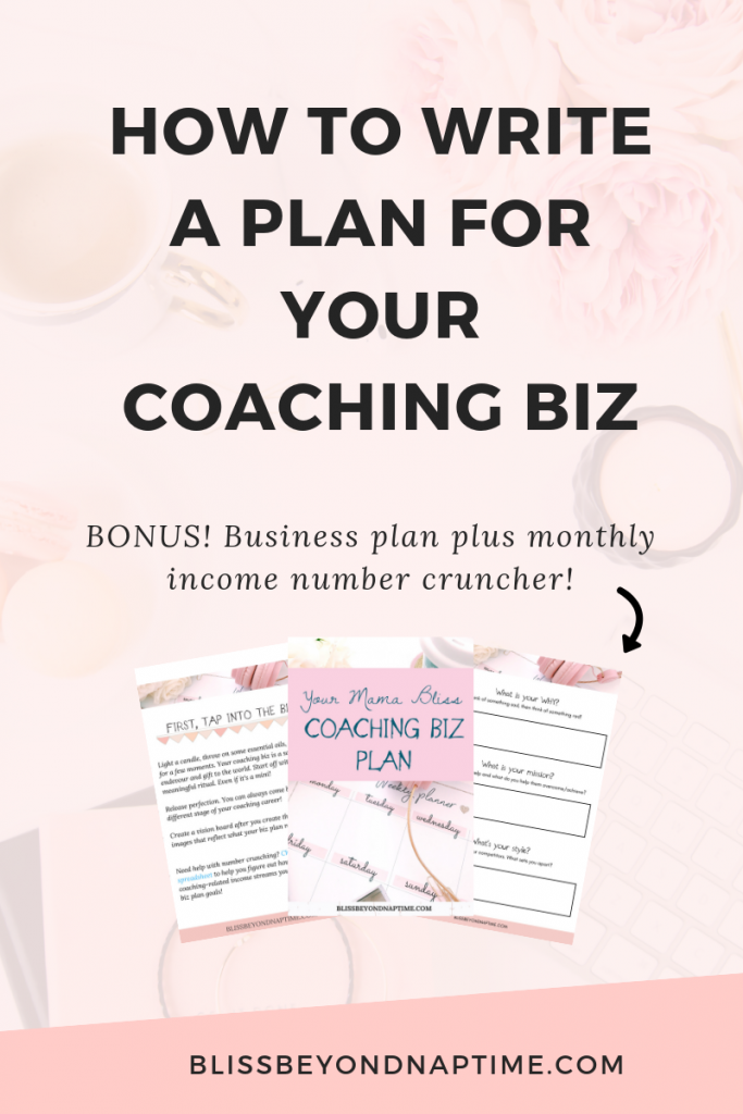 How to Write a Plan for Your Coaching Biz