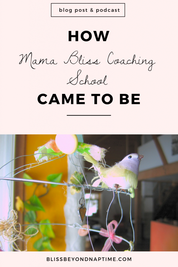 How Mama Bliss Coaching School - The Coaching Training Program for Moms - Came to Be