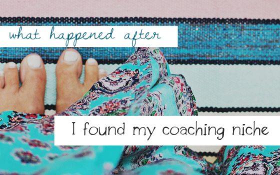 how to choose your coaching niche